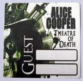 Alice Cooper 'Theatre of Death 2009 Tour - Guest' OTTO Backstage Pass